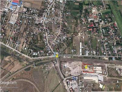 teren cu deschidere 100 m la drum asflatat  , pt constructie hala industriala