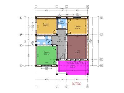 Casa single Breazu plan parter 77 mp util 402 mp teren