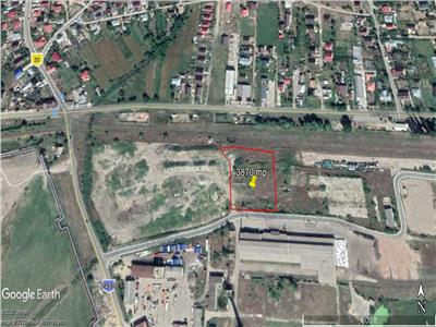 teren cu deschidere 55 m la drum asflatat  , pt constructie hala industriala