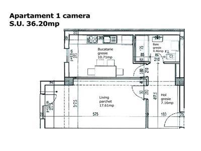 Direct Dezvoltator! Apartament 1 camera, 36.20 mp, Bloc Nou, Pacurari,