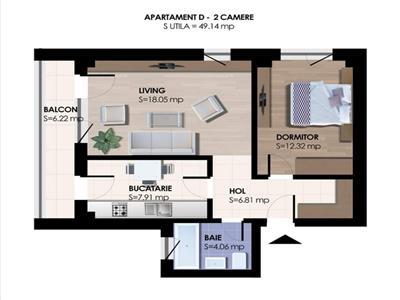Doar la plata CASH Bloc nou, apartament 2 camere decomandat la 2 minute de belvedere