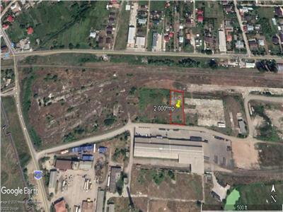 teren cu deschidere 30 m la drum asflatat  , pt constructie hala industriala
