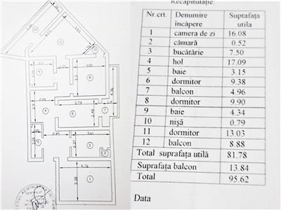 Ap 4 camere, 2 bai, 95 mp, curat,  Arcu  Rapa Galbena