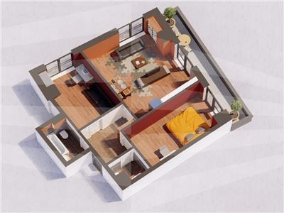 Ap 3 camere, bloc nou, 73.9 mp, Centru  Gara(Str. Arcu)